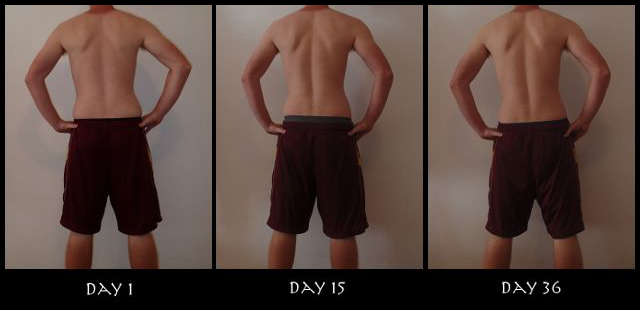 Insanity 30 Day Results Pictures - Back View