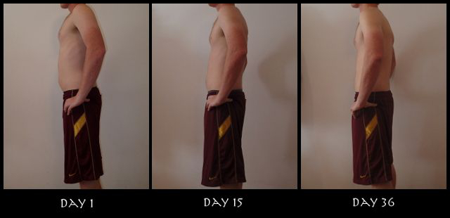 Insanity 30 Day Results Pictures - Side View