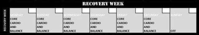 Insanity Recovery Week Calendar