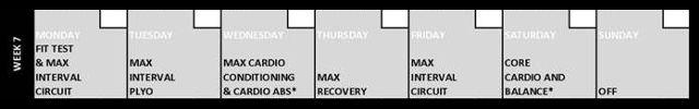 Insanity Week 7 Calendar